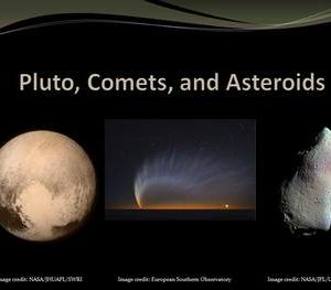 Pluto Comets and Asteroids